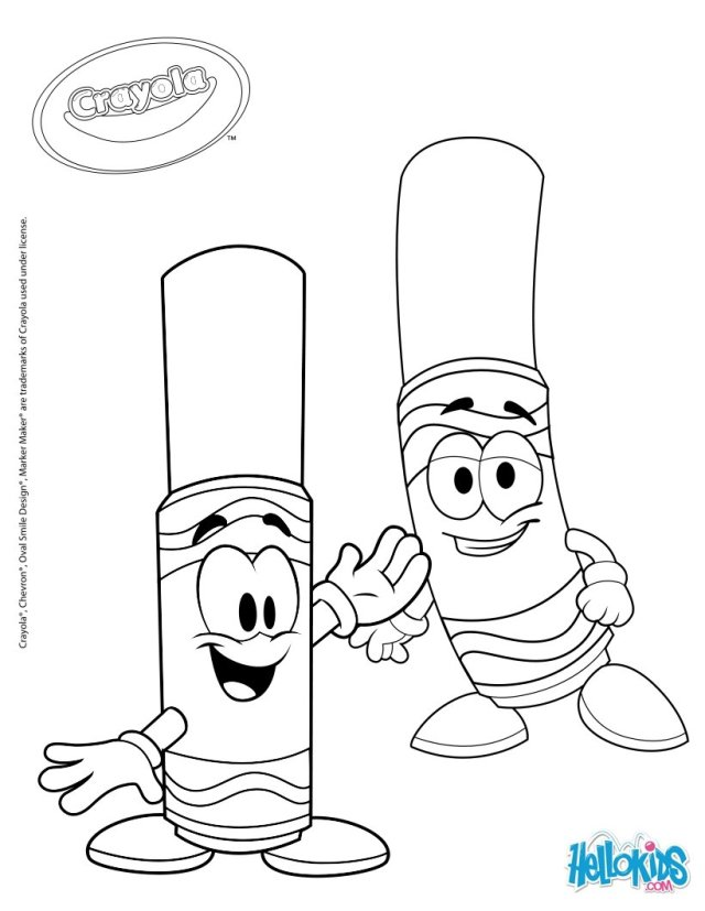 Crayola markers coloring pages