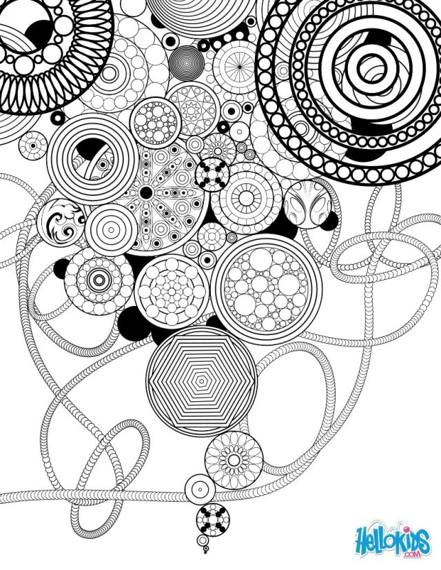 Paisley, hearts and flowers anti-stress coloring design coloring