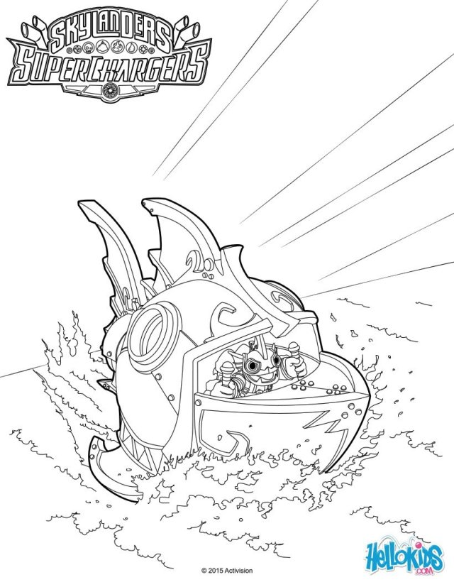 Skylanders superchargers terrafin coloring pages