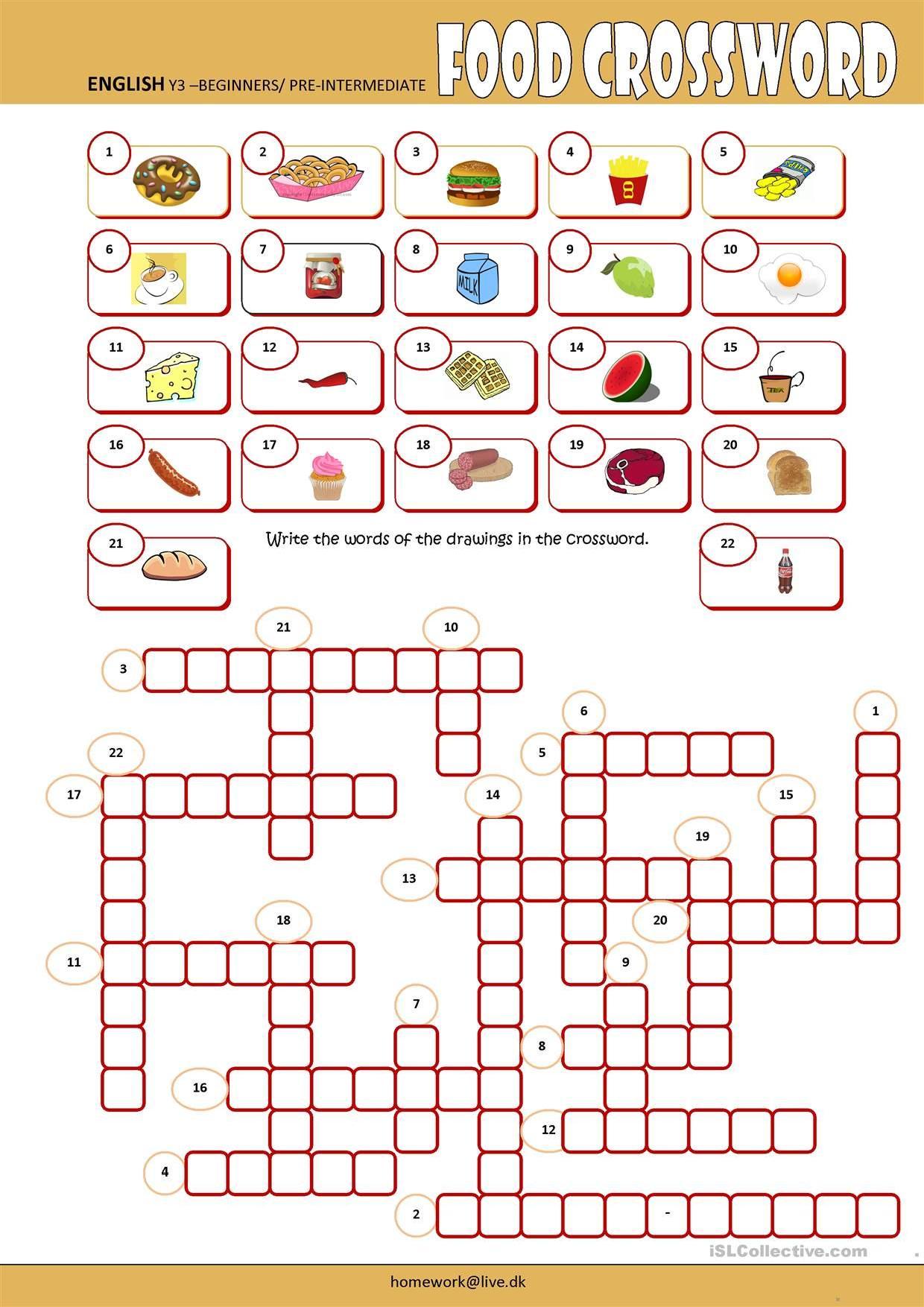 Food Crossword Stories To Read