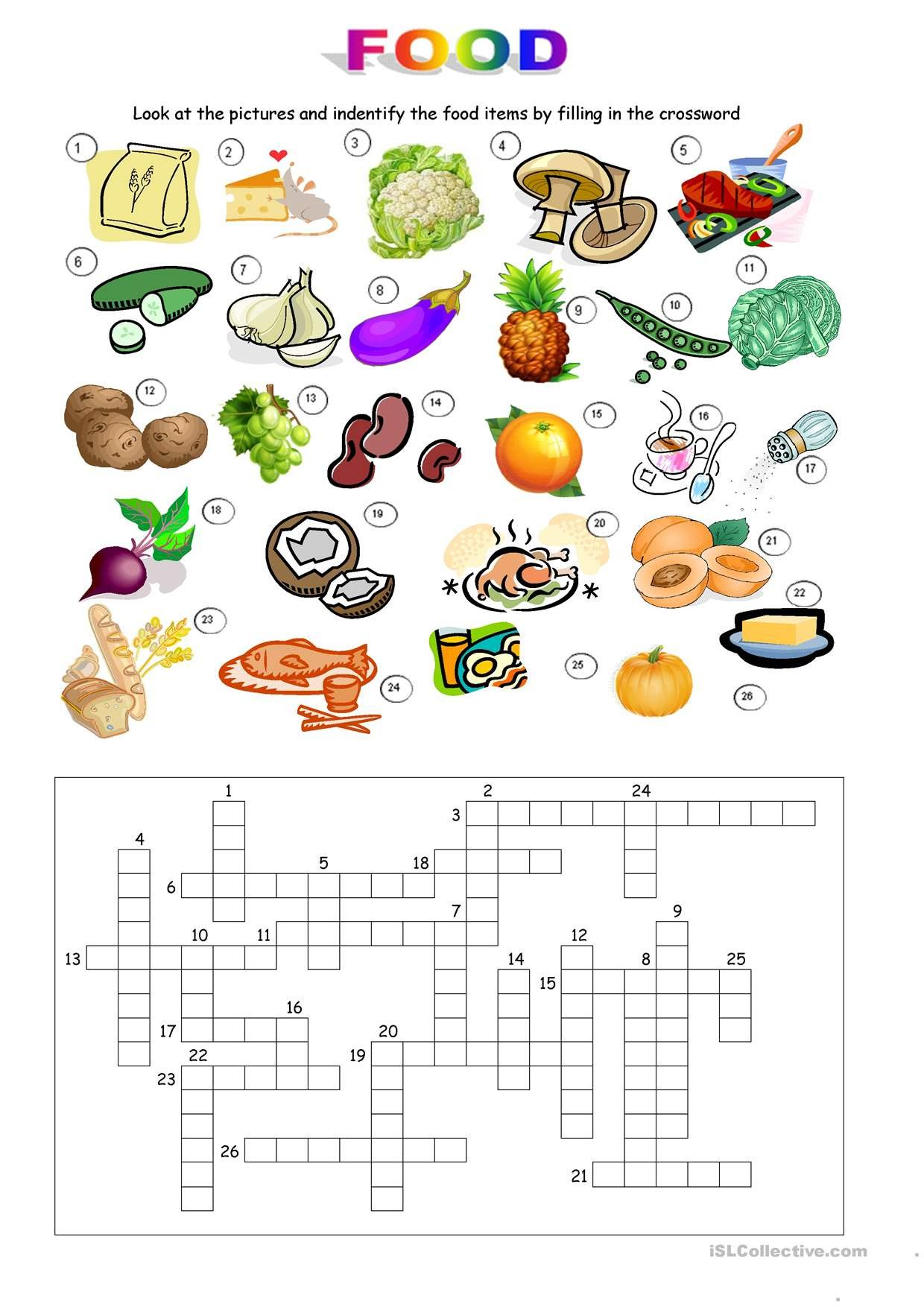 Spanish Breakfast Foods Worksheet