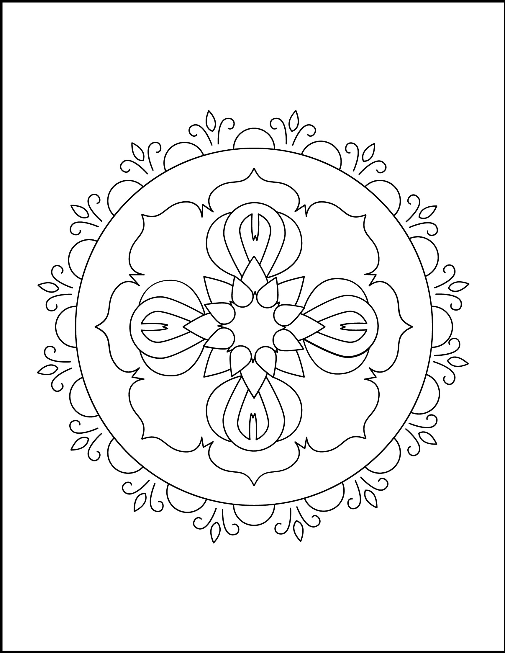 Mandala Of Flowers Coloring Pages