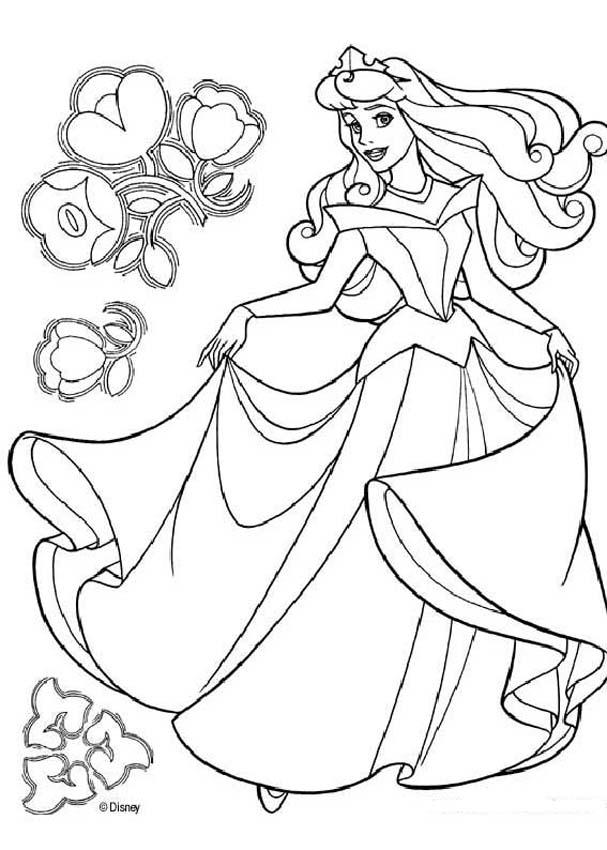 Princess aurora dancing coloring pages - Hellokids.com | free printable princess aurora coloring pages