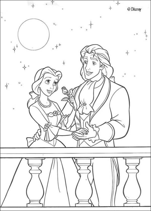 beauty and the beast coloring page # 49