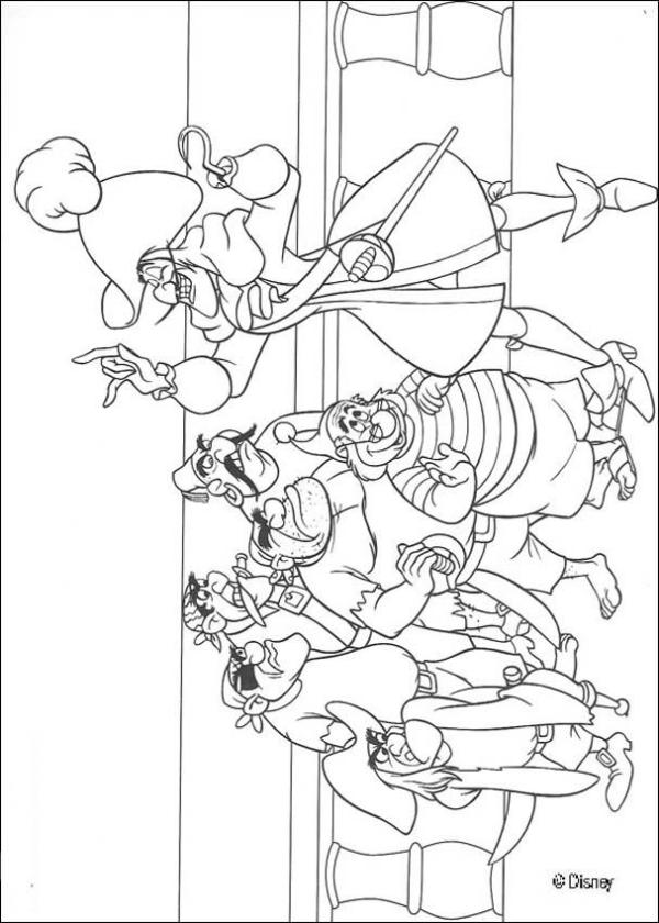 captain hook coloring pages # 54