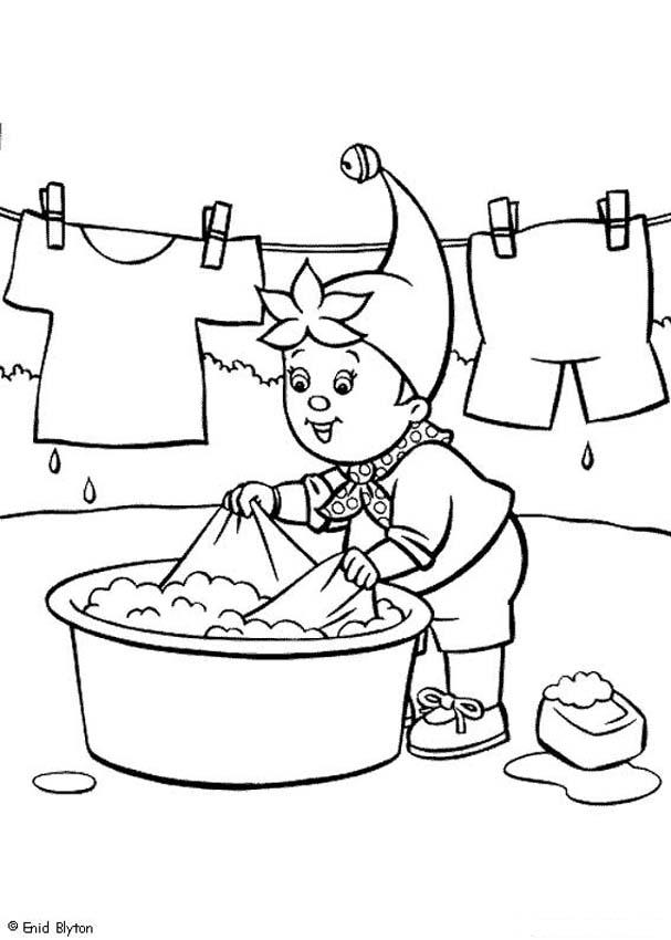 noddy hand washing his clothes coloring pages  hellokids