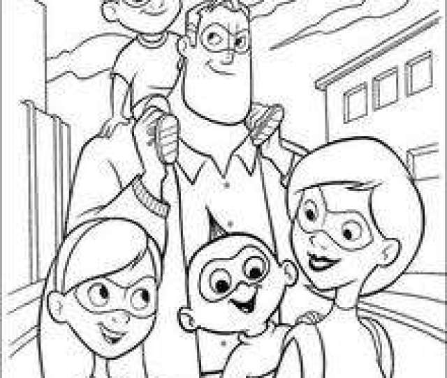 The Incredibles Coloring Book Pages  Free Disney Printables