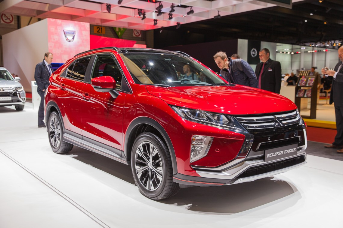 2018 mitsubishi eclipse cross debuts at geneva auto show