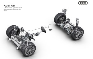 Audi reveals new A8's chassis technology