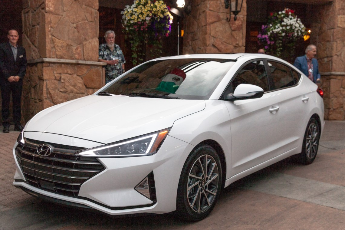 2019 hyundai elantra debuts: compact car adds safety tech, gets