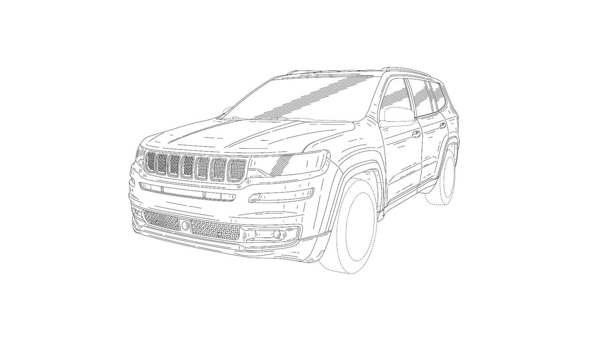 3 Row Jeep Suv Revealed In Patent Drawings