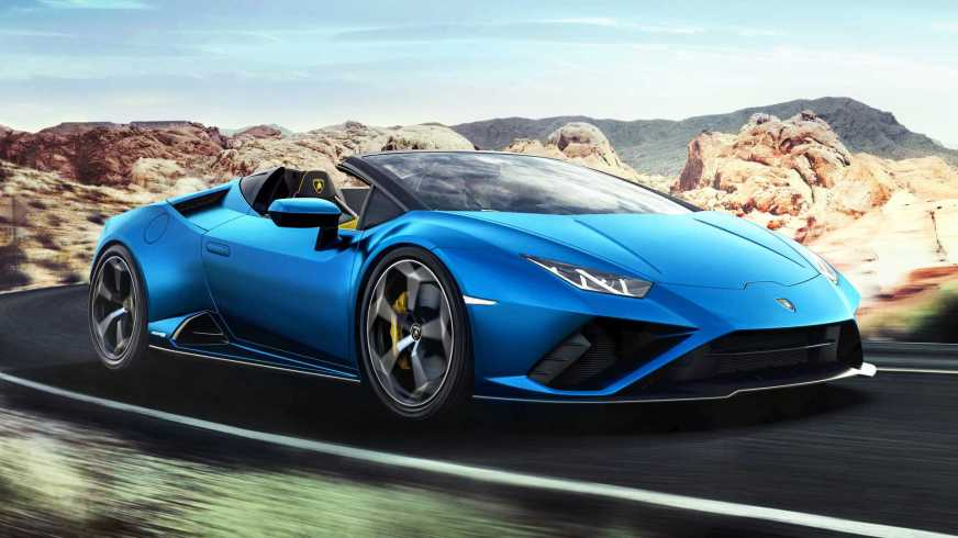 Lamborghini Huracan Evo Spyder now with rear-wheel drive