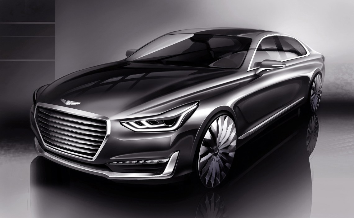 genesis g90: the replacement for the hyundai equus teased