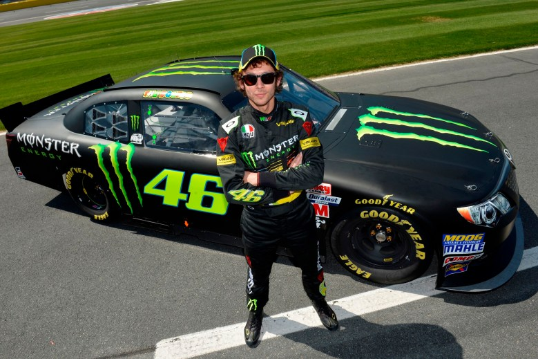 """Valentino Rossi Drives Kyle Busch's NASCAR Nationwide Car, Does """"Pretty Good"""""""