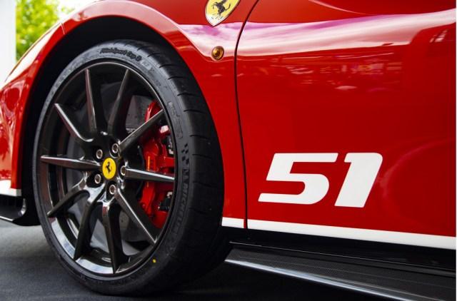 Ferrari 488 Pista fitted with carbon fiber wheels