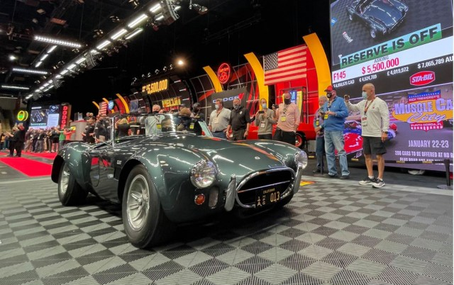 Sale of 1965 Shelby 427 Cobra owned by Carroll Shelby - Photo Credit: Mecum Auctions