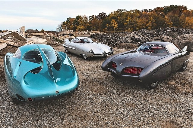 The three Alfa Romeo B.A.T. concept cars were sold as a single lot   Darin Schnabel/RM Sotheby's