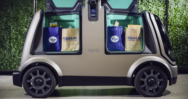 kroger supermarkets jump into self driving car grocery delivery in arizona