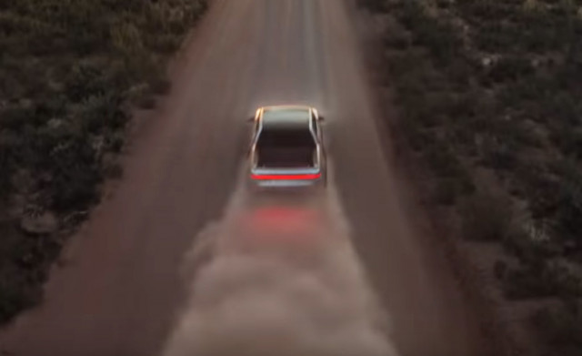 Teaser for Rivian R1T debuting at 2018 Los Angeles auto show