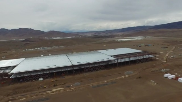 Tesla gigafactory as photographed by drone, May 17, 2015 [screen capture from YouTube video]
