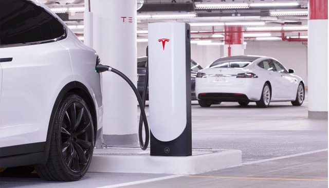 Tesla Supercharger for city centers