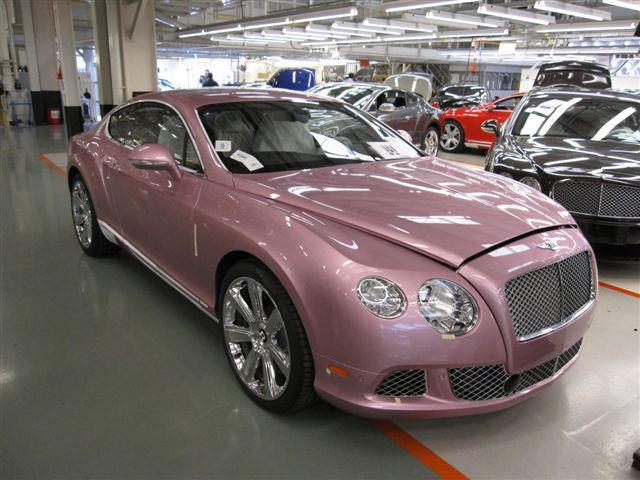 Image Unique Passion Pink 2012 Bentley Continental Gt