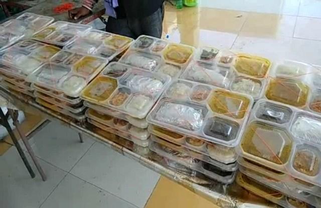 भोजन के पैकेट