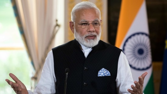 Dominican PM Roosevelt Skerrit on Tuesday effusively praised PM Modi for quickly accepting the request for Covid vaccines that has enabled his country to advance its vaccine schedule.(AP)