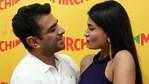 Eijaz Khan and Pavitra Punia at an event in Mumbai.(Varinder Chawla)