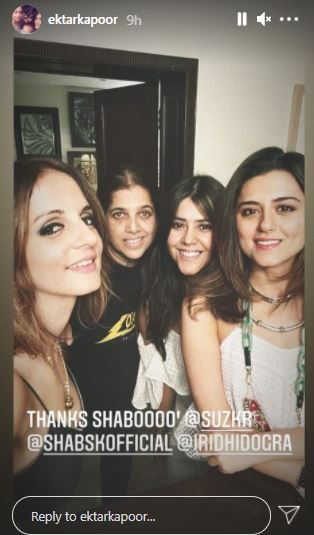 Ekta Kapoor also shared pictures from the same party.