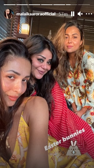 Malaika Arora spends Easter with her sister Amrita Arora.