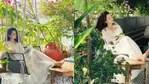 Kangana Ranaut poses for photos at her house.
