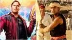 Chris Pratt (L) and Aamir Khan, in Lagaan (R).