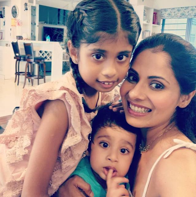 Chavvi Mittal with her kids