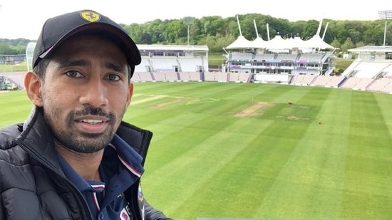Wriddhiman Saha shared the view from his balcony