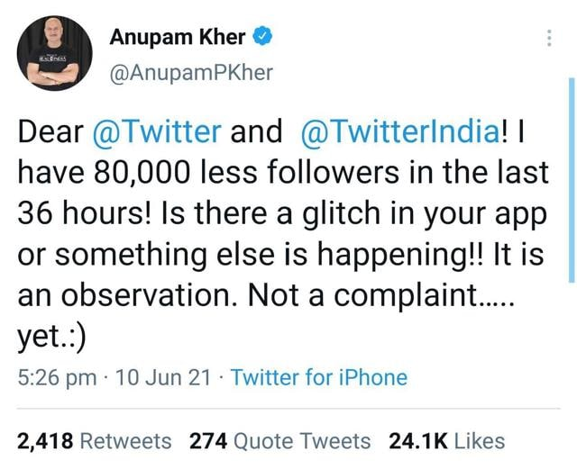 Ssumier aka Pammy aunty takes a dig at Anupam Kher: Funny that a person of his stature complained about losing followers