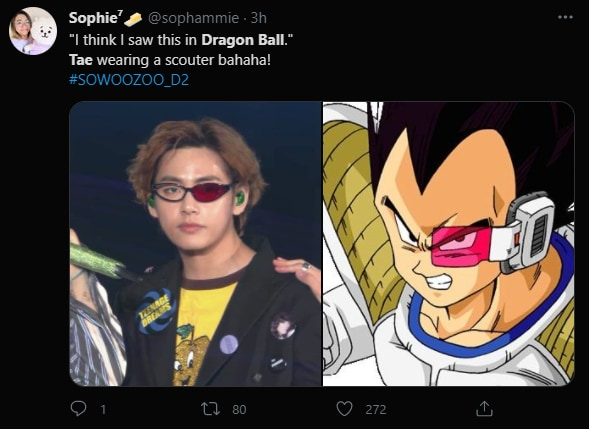 BTS member V inspires comparisons with Dragon Ball Z's Vegeta.