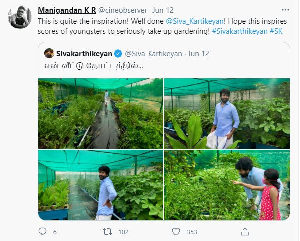 Many fans of Sivakarthikeyan took to Twitter to share his pictures.
