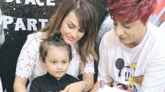 Nisha Rawal Celebrates Son Kavish's Birthday Amid Controversies With Karan Mehra, See Photos
