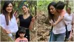 Shweta Tiwari with daughter Palak Tiwari and son Reyansh.