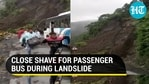 Bus narrowly escapes accident due to rain-triggered landslide in Nainital