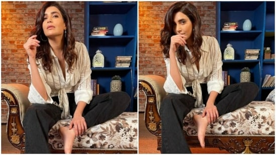 Karishma Tanna is busy making her Instagram family drool like anything. The actress is on a spree of sharing snippets from her fashion photoshoots, on a regular basis, and each of them manage to stun us. When it comes to fashion, Karishma Tanna always puts her sartorial foot forward. On Tuesday, the actor shared multiple pictures from her photoshoot and they are just too good.(Instagram/@karishmaktanna)