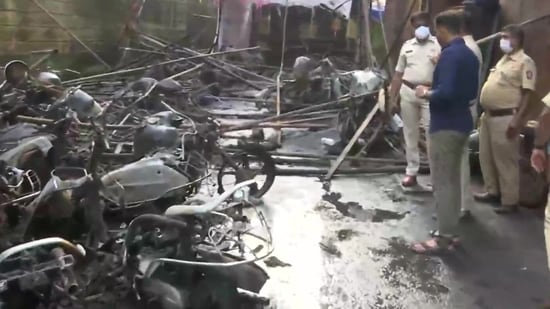 The massive fire broke out in Mumbai's Kurla area and was doused later