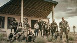 Here's the first official picture of Army of the Dead, directed by Zack Snyder.