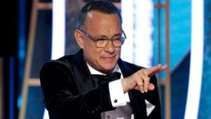 Tom Hanks accepts the Cecil B. DeMille Award at Golden Globes 2020.(REUTERS)