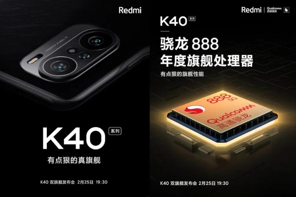 Redmi K40 teaser.