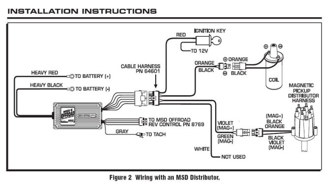 msd off road ignition wiring diagram  2004 cadillac