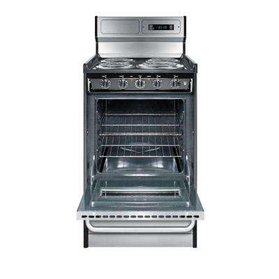 Electric Range In Stainless Steel 20 2 46 Cu Ft