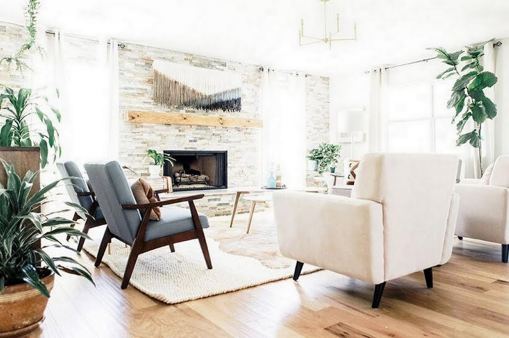 Bohemian Meets Mid Century Living Room The Home Depot