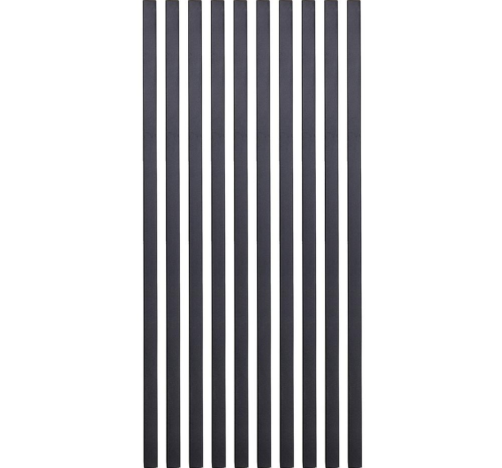 Precision 26 In X 3 4 In Black Pearl Matte Steel Square Baluster | Home Depot Metal Spindles | Rail Kit | Oil Rubbed Bronze | Aluminum | Handrail | Staircase